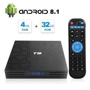 T9 Android 8.1 TV BOX 4GB 32/64GB Wifi 5GHz BT4.0 Youtube Set Top Box