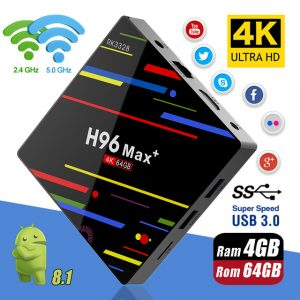 H96 MAX Plus RK3328 Penta-Core 4G+32G 4G+64G2 Android 8.1 TV Box