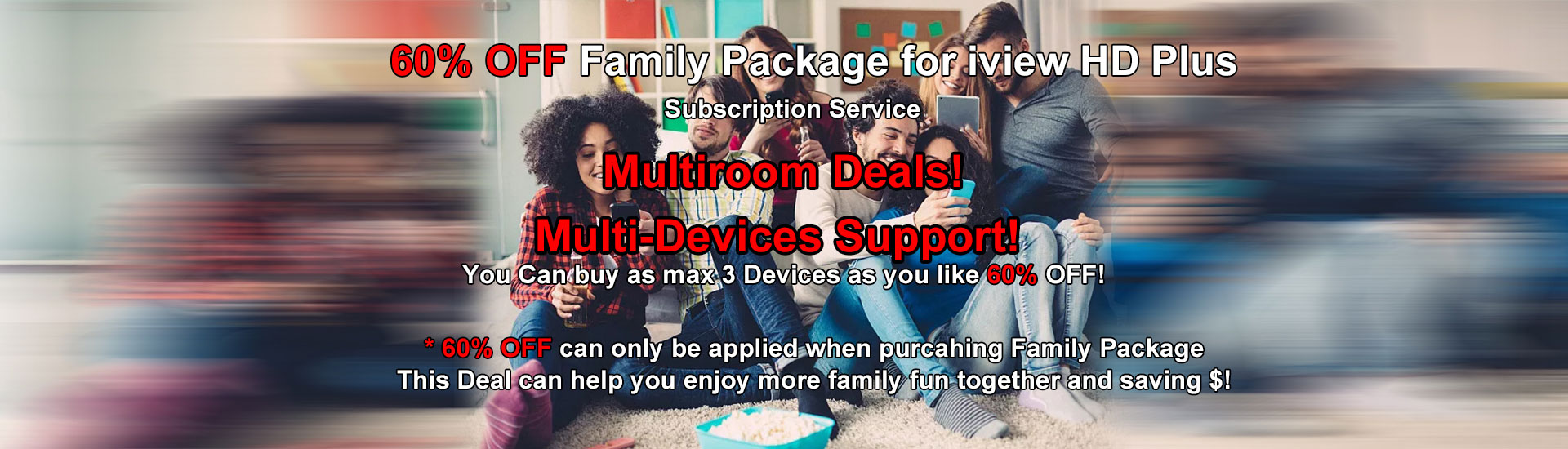 60% off family package